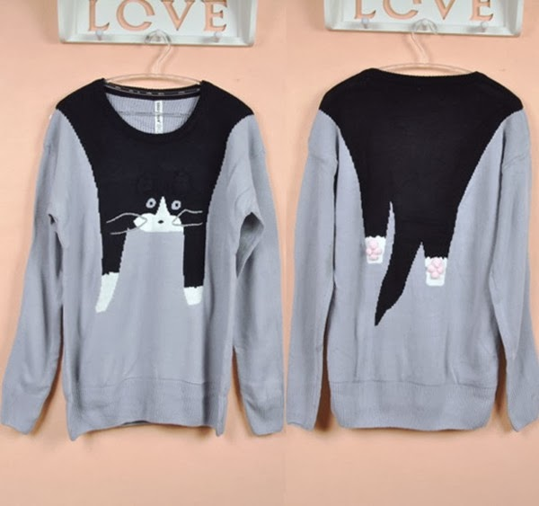 Sweet Interesting Cat Sweater for Woman