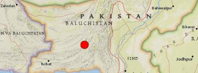 Epicentro terremoto 7,8 grados en Pakistán, el 24 de Septiembre de 2013