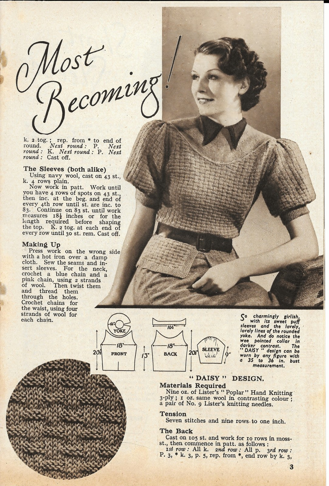 Outstanding 2 Ply Knitting Patterns Ensign - Sewing Pattern for ...