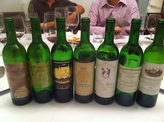 Blind tasting Bordeaux 1986