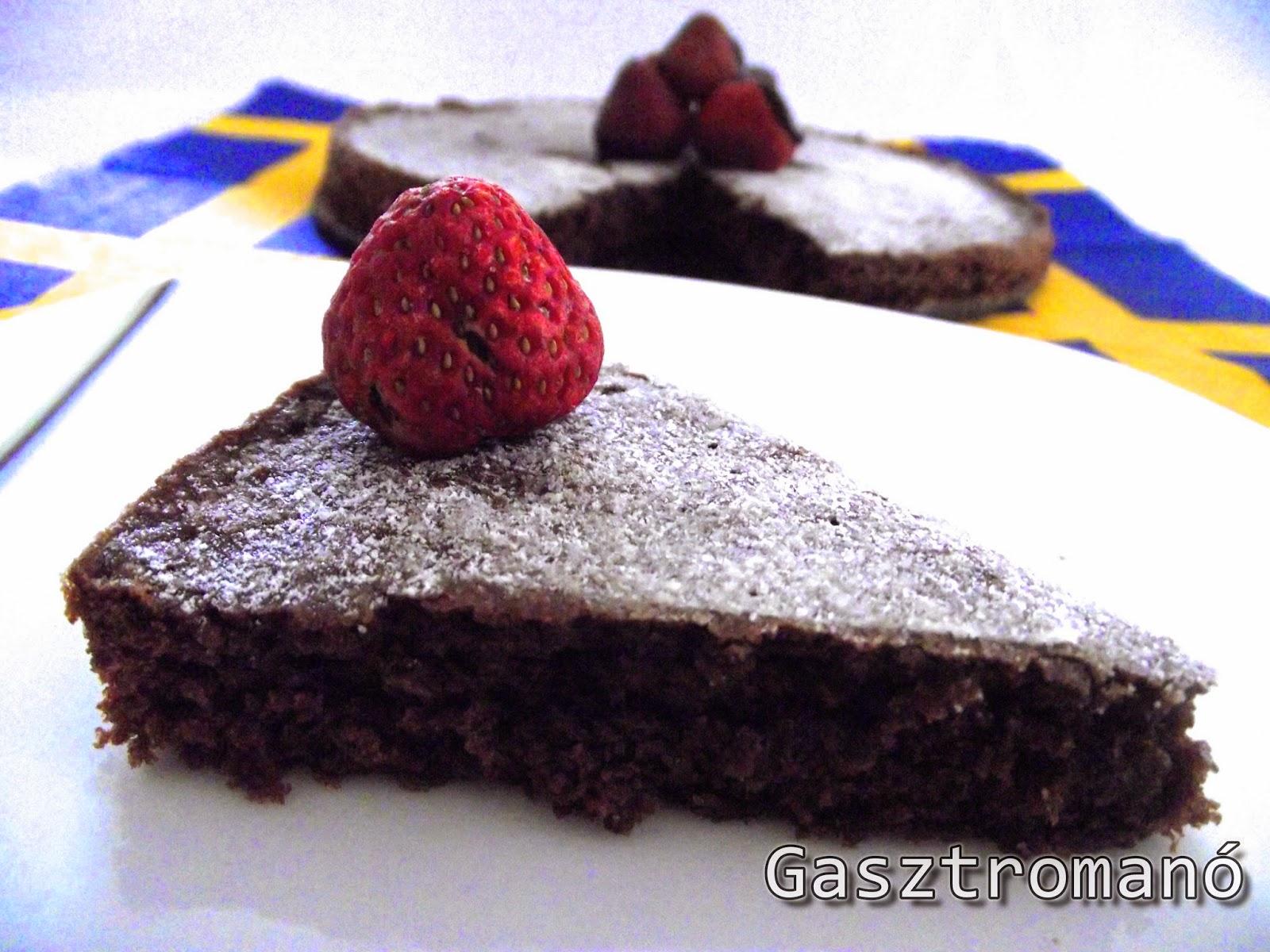 svéd csokitorta recept