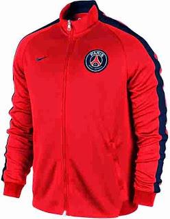 gambar jaket psg terbaru warna oranye, jual online jaket bola grade ori 2014/2015, harga murah