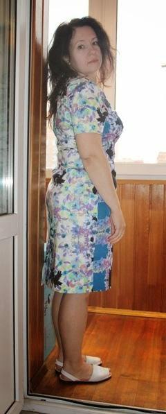 платье по Бурде 09/2012 из плотного хлопка