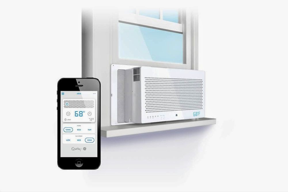 GE Aros Smart Window Air Conditioner and iPhone Android Wink App by Quirky