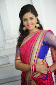 Sri Mukhi Gorgeous Half saree Photos-thumbnail-19