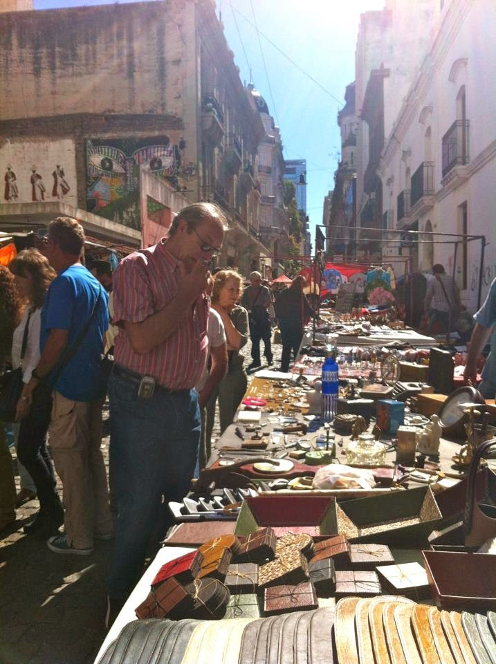 Stalls in San Telmo Market, Buenos Aires