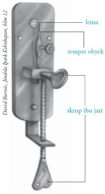 Bentuk mikroskop Antoni von Leeuwenhoek