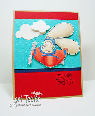 My Head's in the Clouds Over You card-designed by Lori Tecler/Inking Aloud-stamps from The Cat's Pajamas