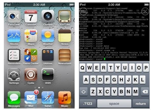 Jailbroken iOS5