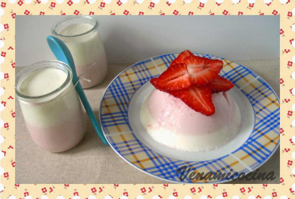 Vasitos de fresas con nata