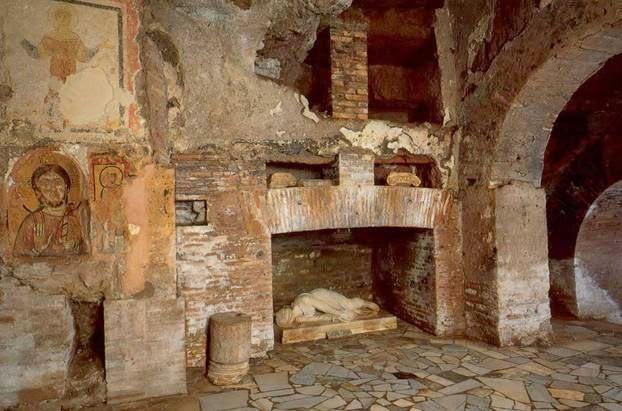 I sotterranei di S Cecilia in Trastevere