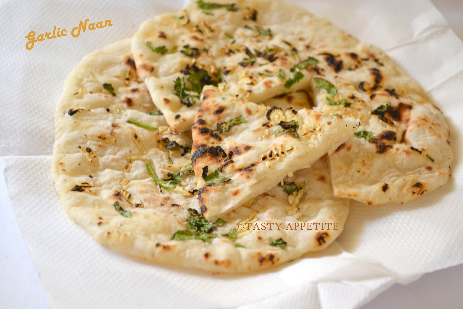 How to make Garlic Naan ( yeast free ) / Step by Step Recipe: | Tasty ...