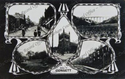 Postcard of views of Consett, c.1910 (D/CL 27/277/375)