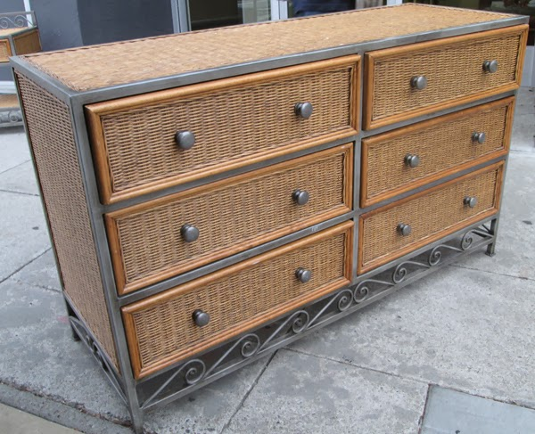 Exceptional SOLD Wicker And Metal Dresser   $140