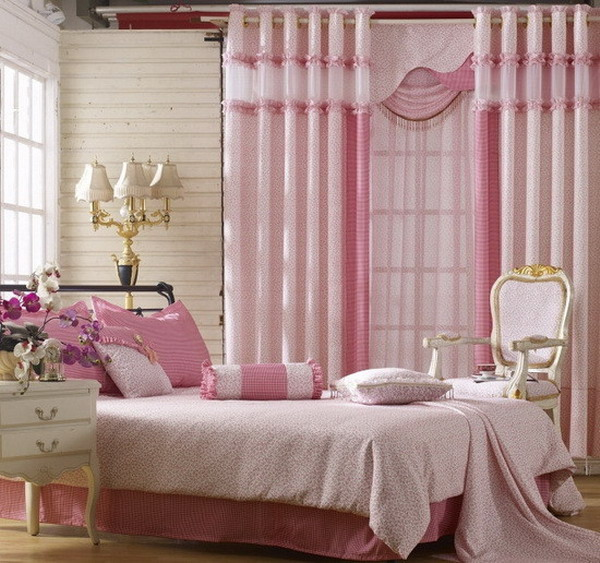 pink curtains for girls bedroom