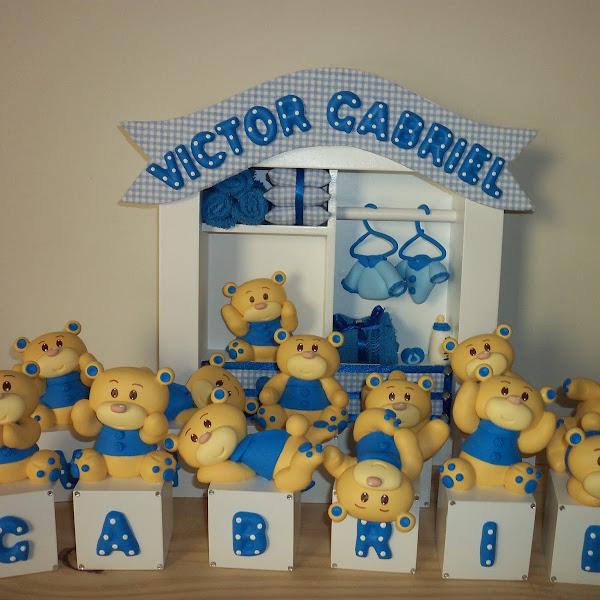 Quadro de Maternidade e Cubos de Ursinhos