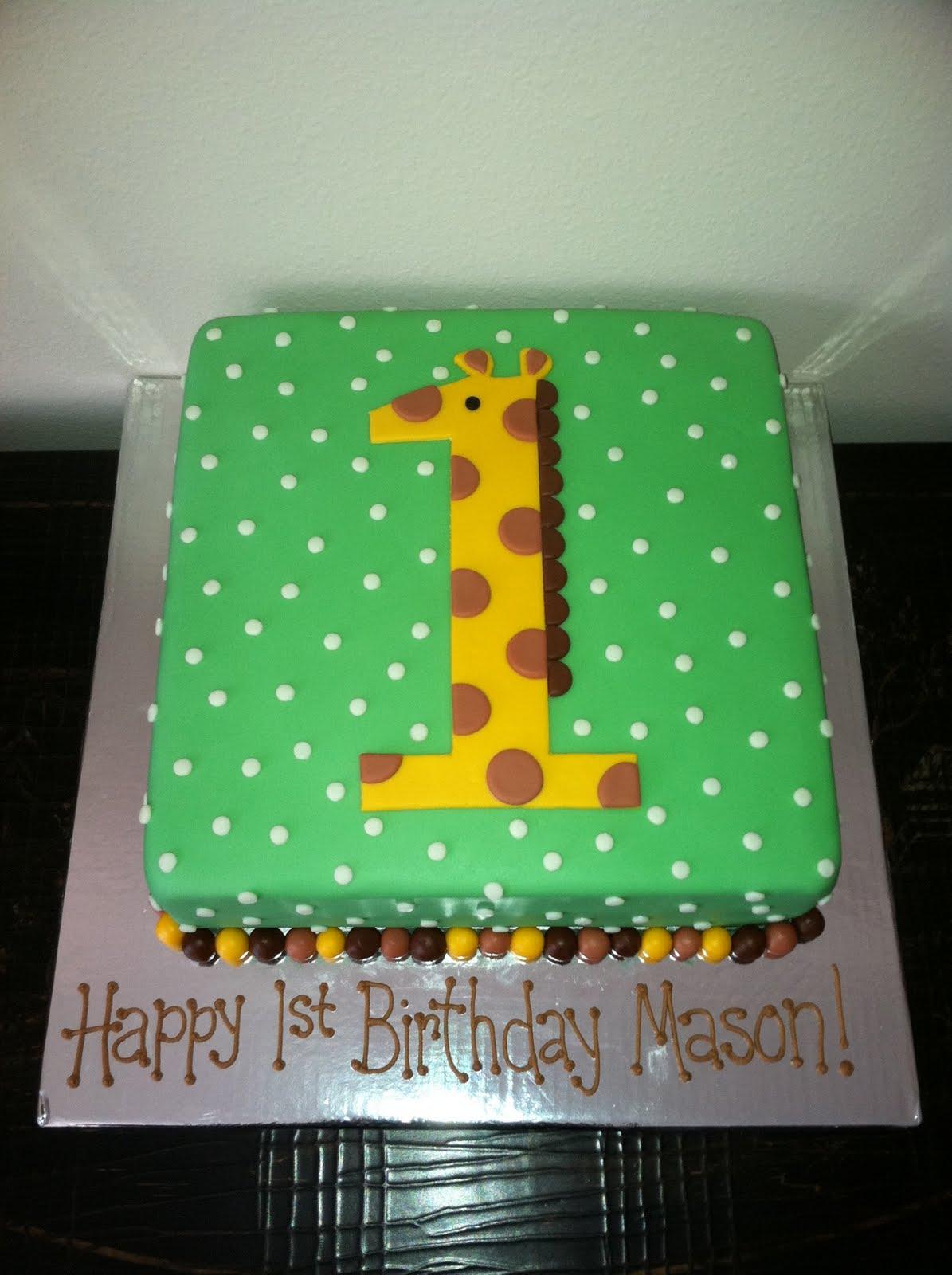 Sweet Melissas Giraffe 1st Birthday Cake