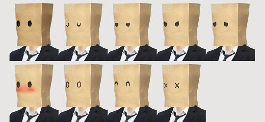 My Sims 4 Blog: Paper Bag Mask by Imadako