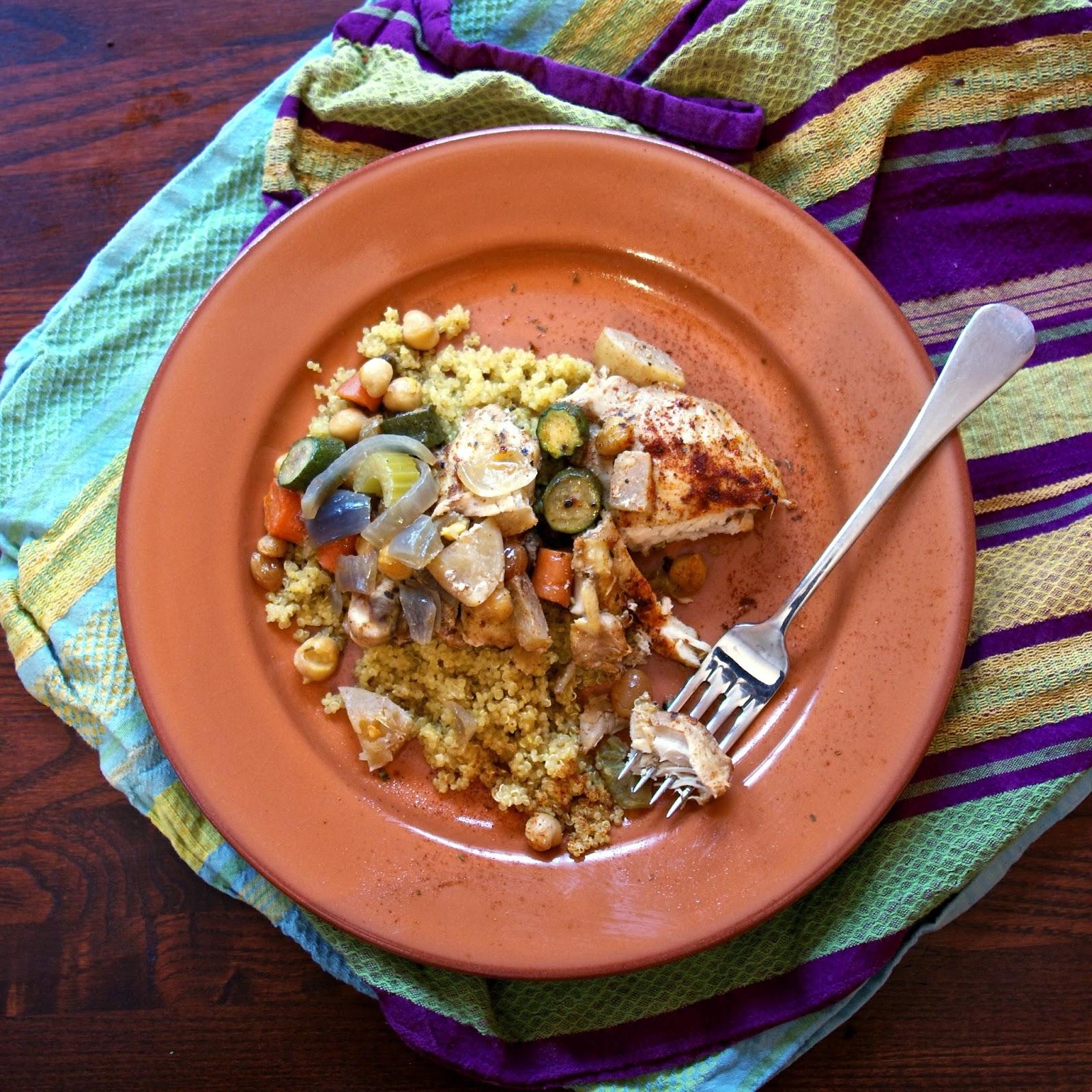 Slow Cooker Algerian Chicken Stew- simplelivingeating.com