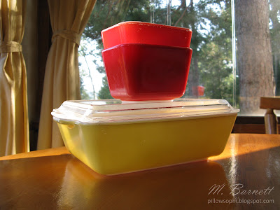 Red and Yellow Pyrex