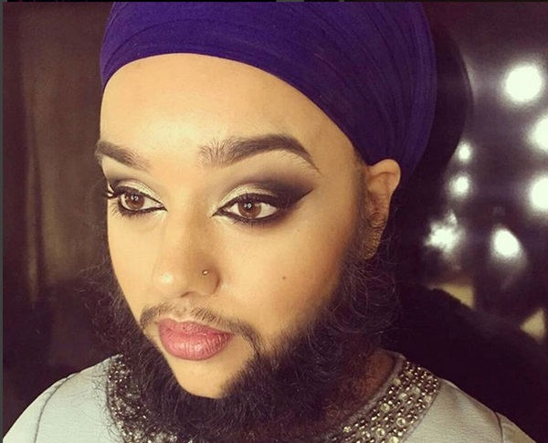 Harnaam Kaur Sweet Girl With Heavy Beard