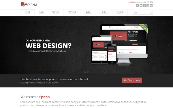 templates bootstrap download epona responsive website template. Black Bedroom Furniture Sets. Home Design Ideas