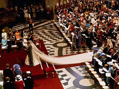 Royal Wedding Pictures: Lady Diana wedding gown