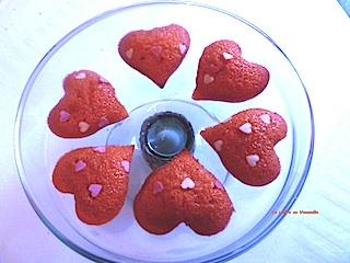 Petits gateaux coeur Saint Valentin