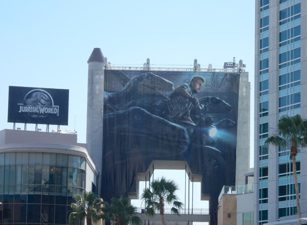 Giant Jurassic World movie billboards