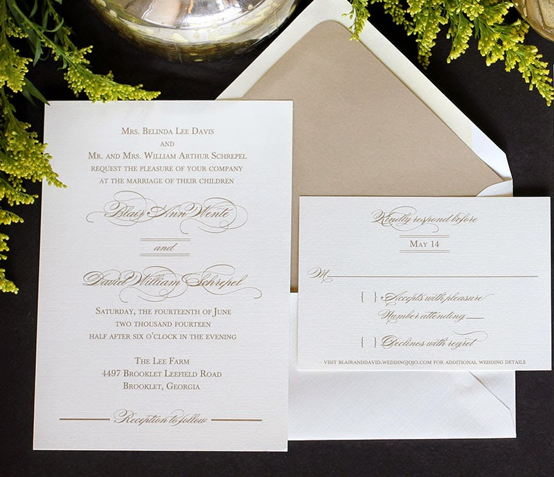 Calligraphy Script Wedding Invitations | Blush Paperie