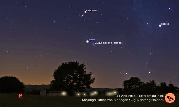 Venus Berdampingan dengan Gugus Bintang Pleiades Akhir Pekan Ini