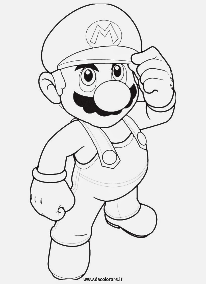 Disegni da colorare di super mario for Disegni mario bros
