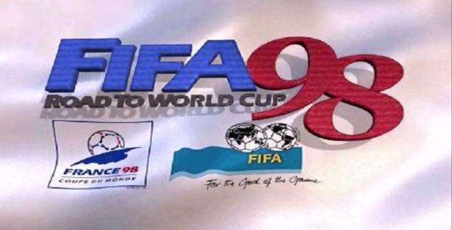 Ekran startowy gry FIFA'98