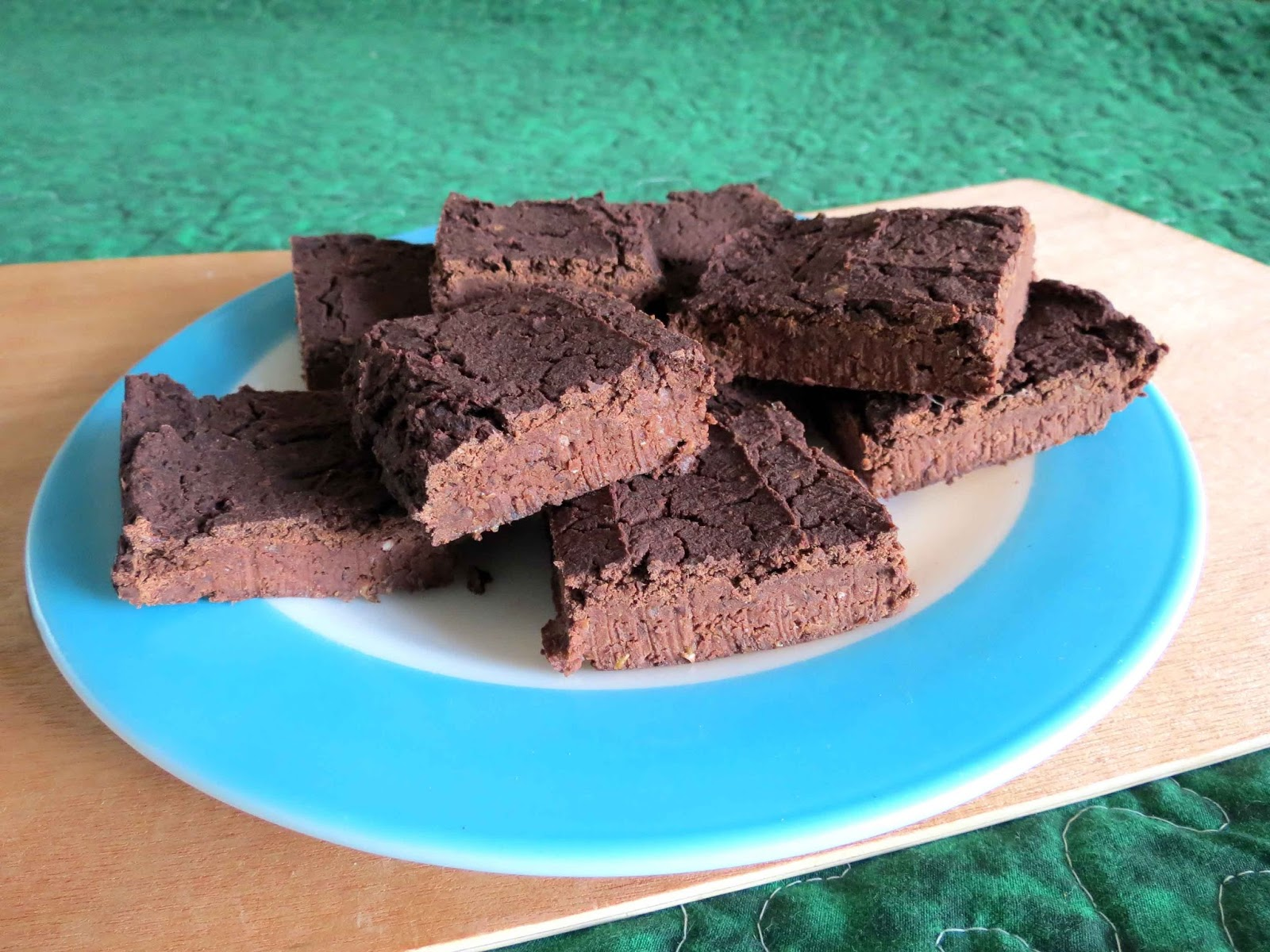 brownies made with black beans