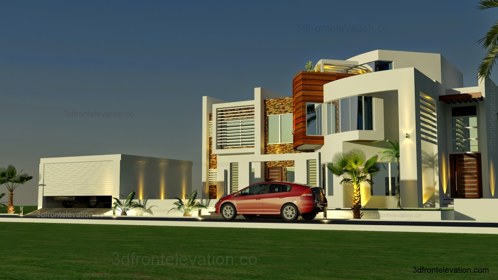 Front Elevation House Dubai : D front elevation oman modern contemporary villa
