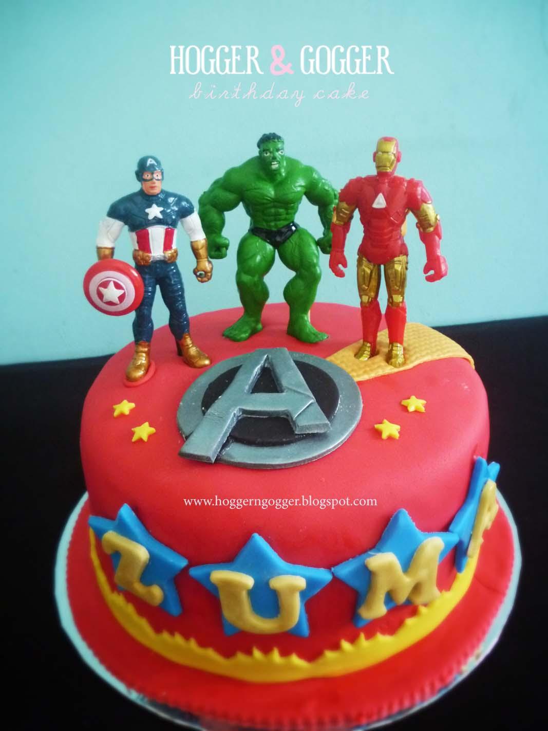 HoggerGogger Hot Wheels and Avengers Theme Birthday cake