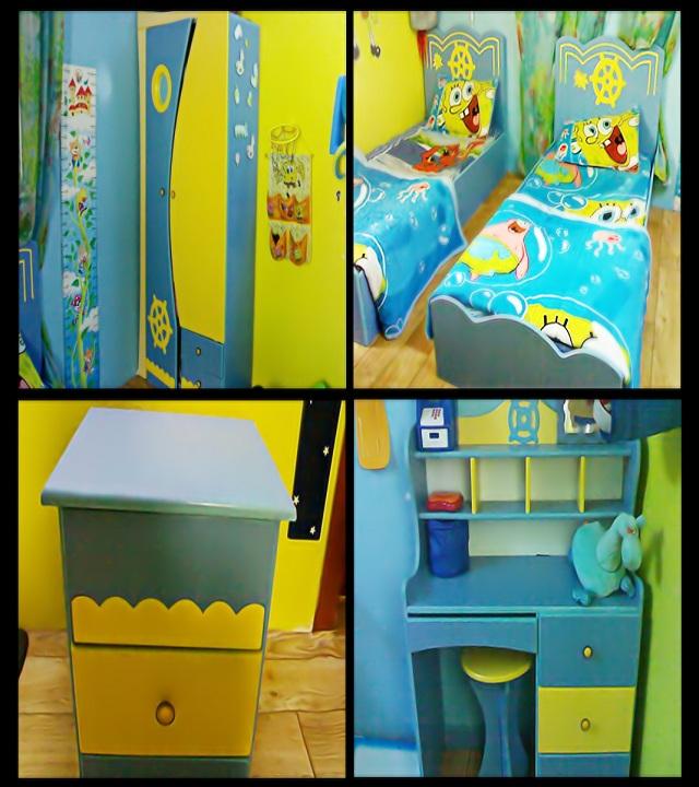 Magnifique chambre pour votre enfant sponge bob b b et for Chambre a coucher pour bebe