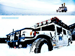 Off Road Car Hummer Jeep in Snow HD Wallpaper