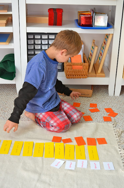animals and their sounds Montessori verb