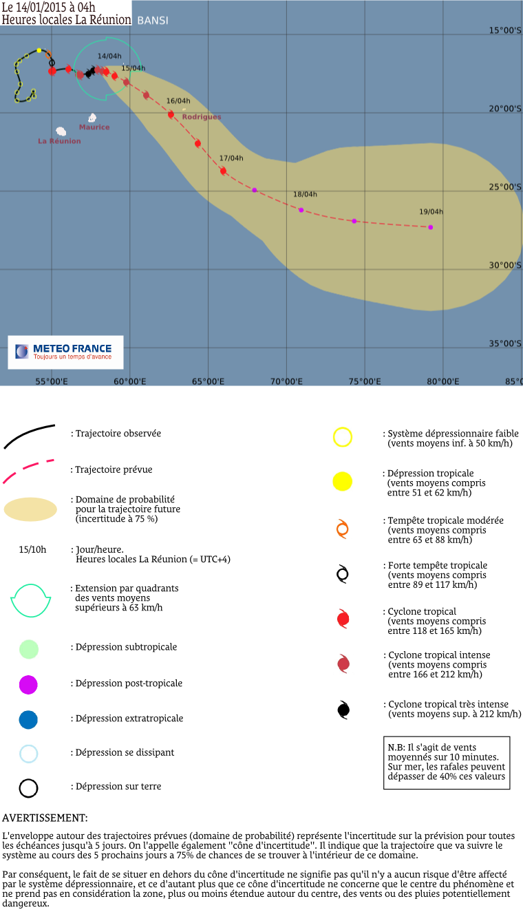 Cyclone tropical Bansi: le point à 4h00