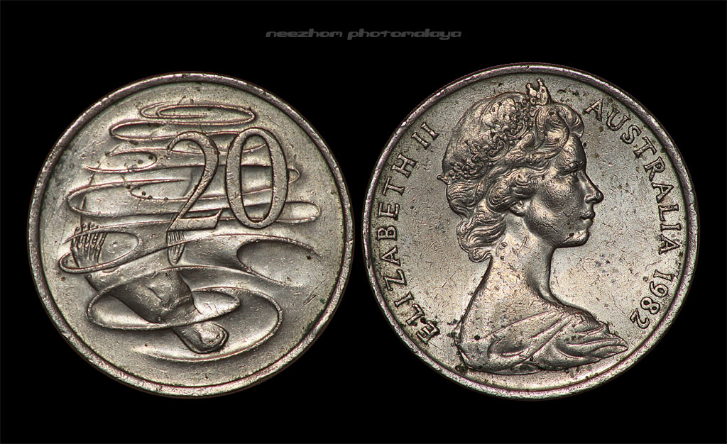 Australia coin 20 cents year 1982