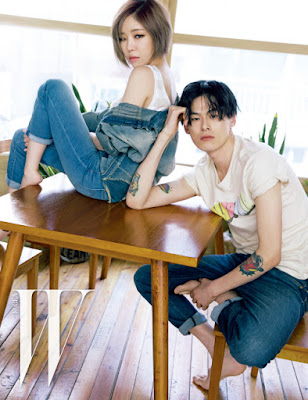 Ga In Brown Eyed Girls and Kim Won Joong - W Magazine May Issue 2015