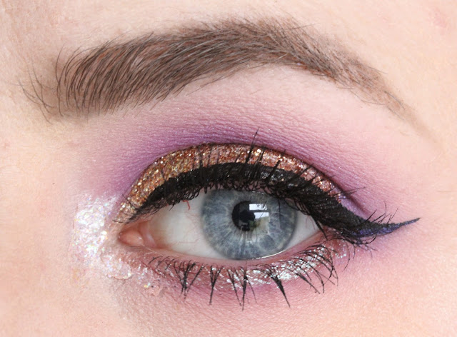 Bonfire Night glittery makeup and fall autumn tag