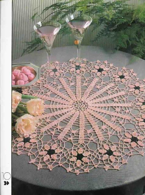 Toalha flor de crochê
