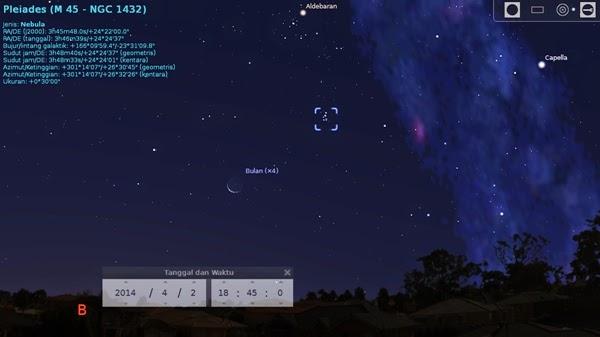 Bulan Sabit Akan Temui Gugus Bintang Pleiades