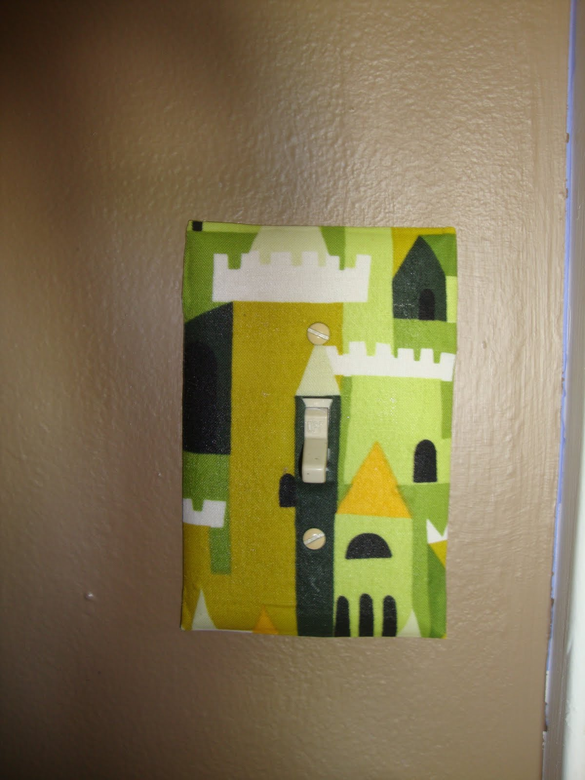 Bethany Sew-and-Sew: How to Decoupage a Light-Switch Plate with Fabric