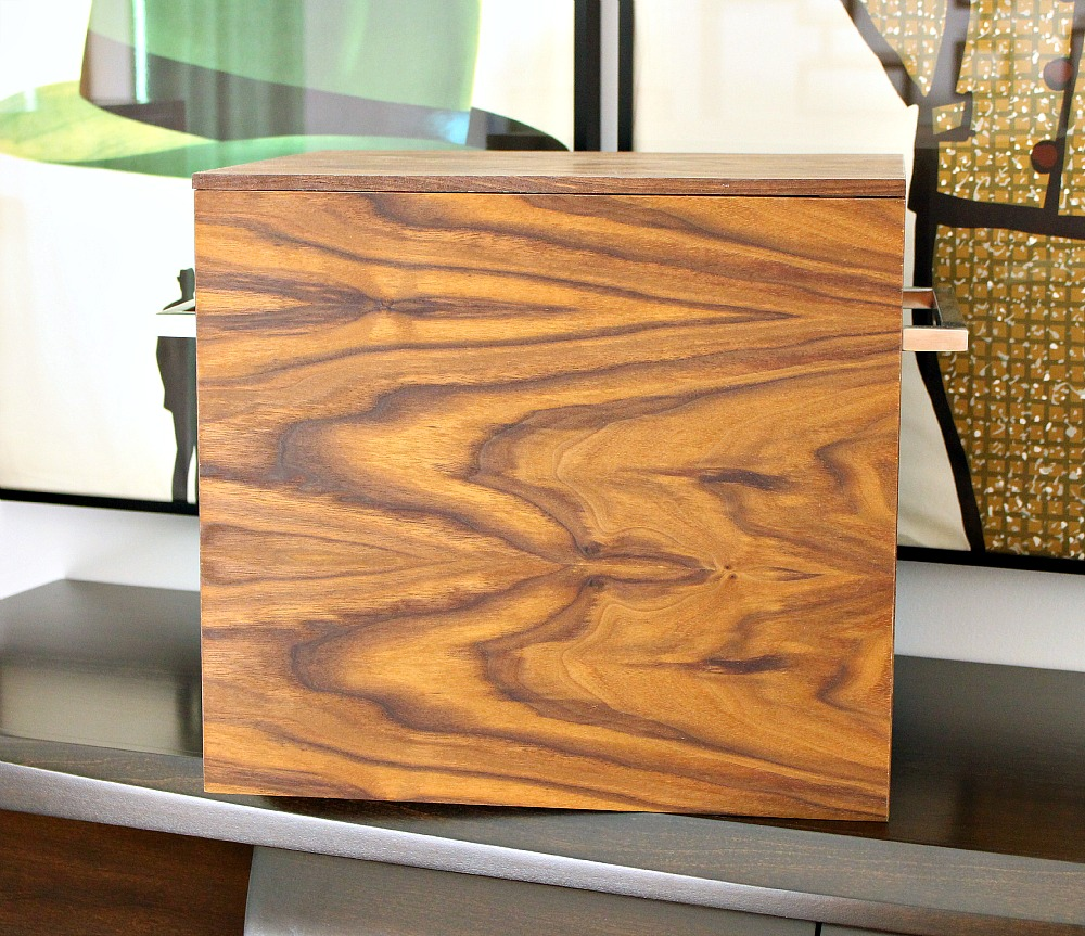 Walnut storage bin ... & DIY Walnut Storage Bins with a Mid-Century Modern Feel | Dans le ...