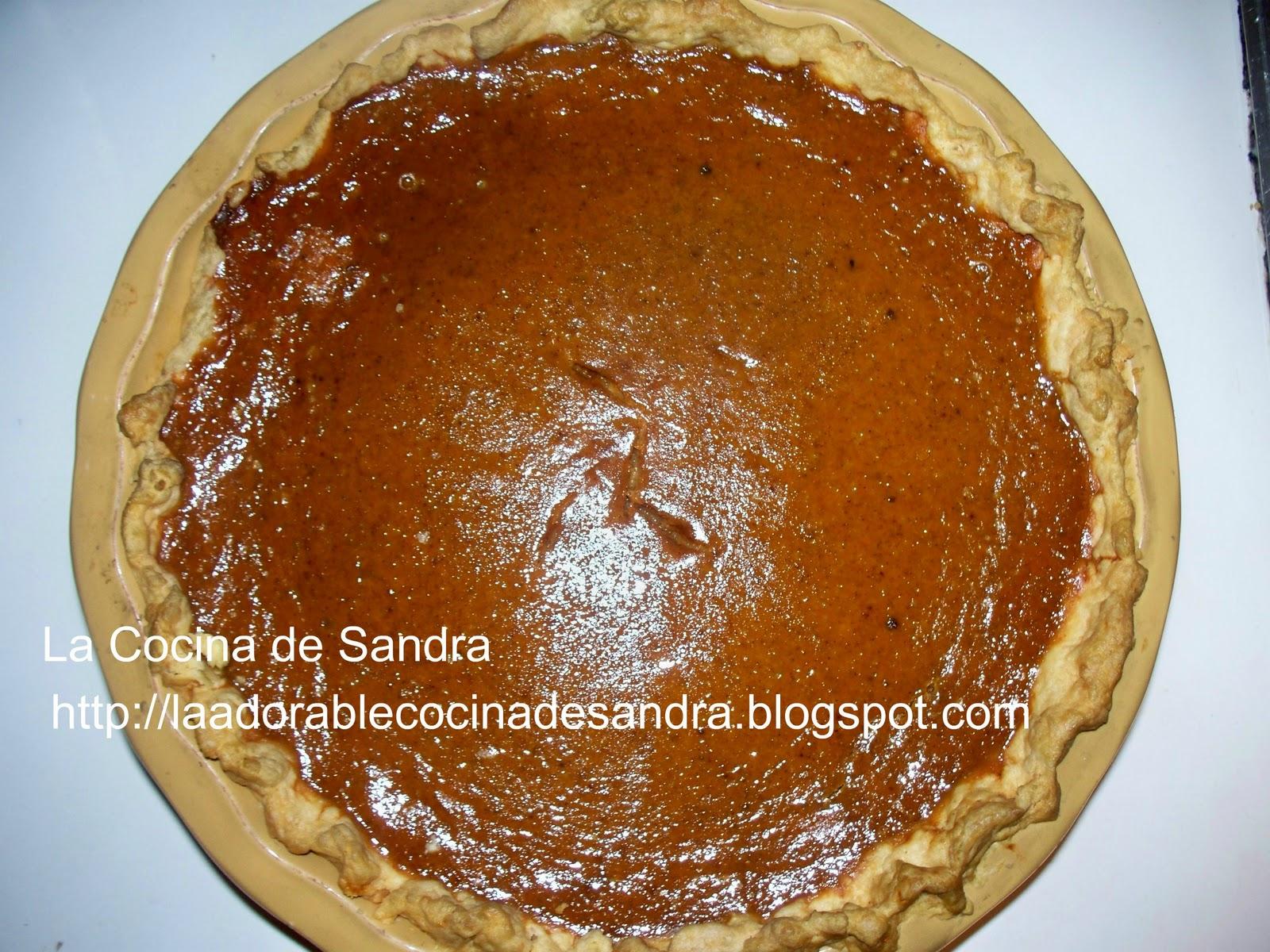 La Cocina de Sandra: Pie de Calabaza ( Pumpkin Pie)