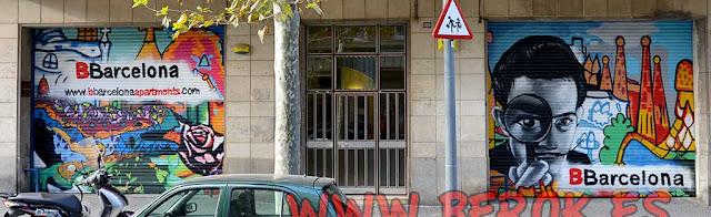 Graffitis persianas Barcelona Dalí