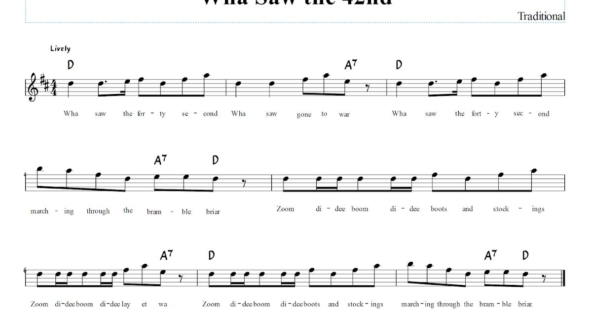All Music Chords desperado sheet music : When We Sing: Wha Saw the 42nd sheet music